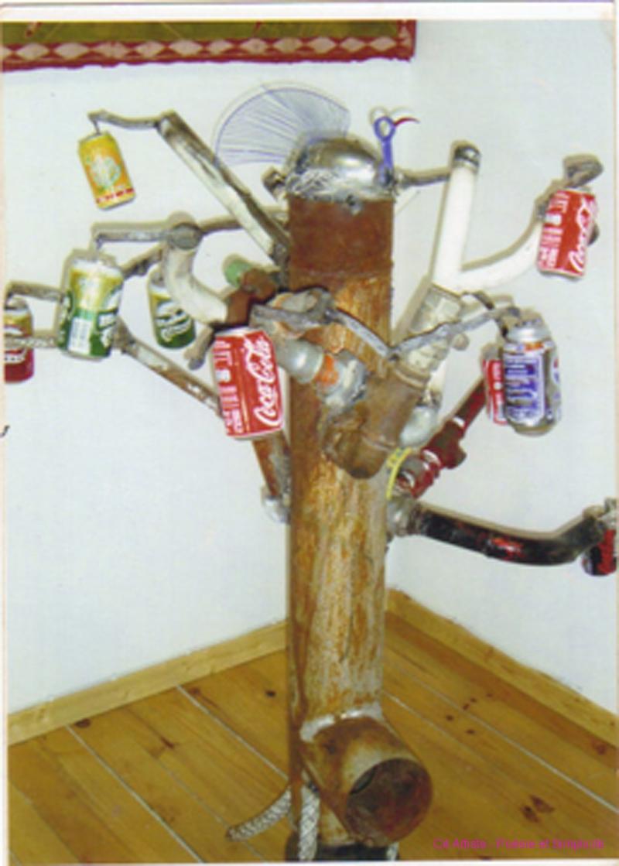 arbre à canettes
